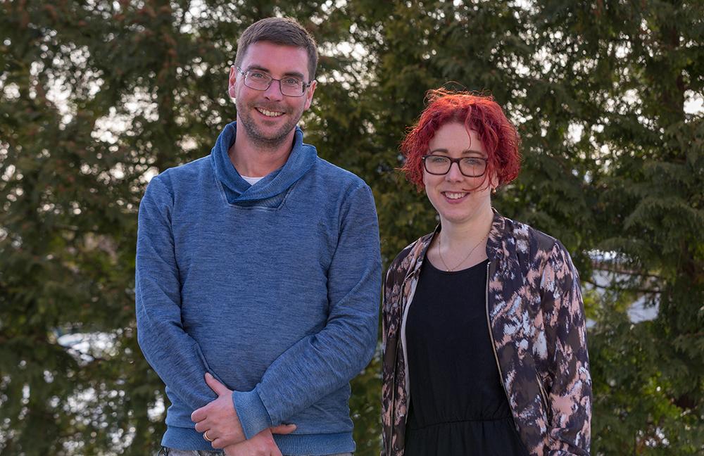 Mattias Lindström, psykolog vid HAB i Hedemora/Avesta och Mathilda Folkesson, psykolog vid HAB i Ludvika. Foto: Janne Åsberg