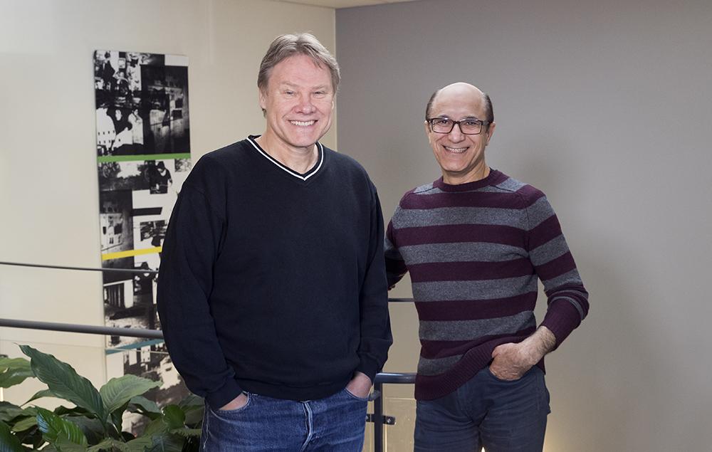 Staffan Malmberg och Mehrdad Beigi, psykologer vid vuxenpsykiatrin på Falu lasarett. Foto: Per Eriksson