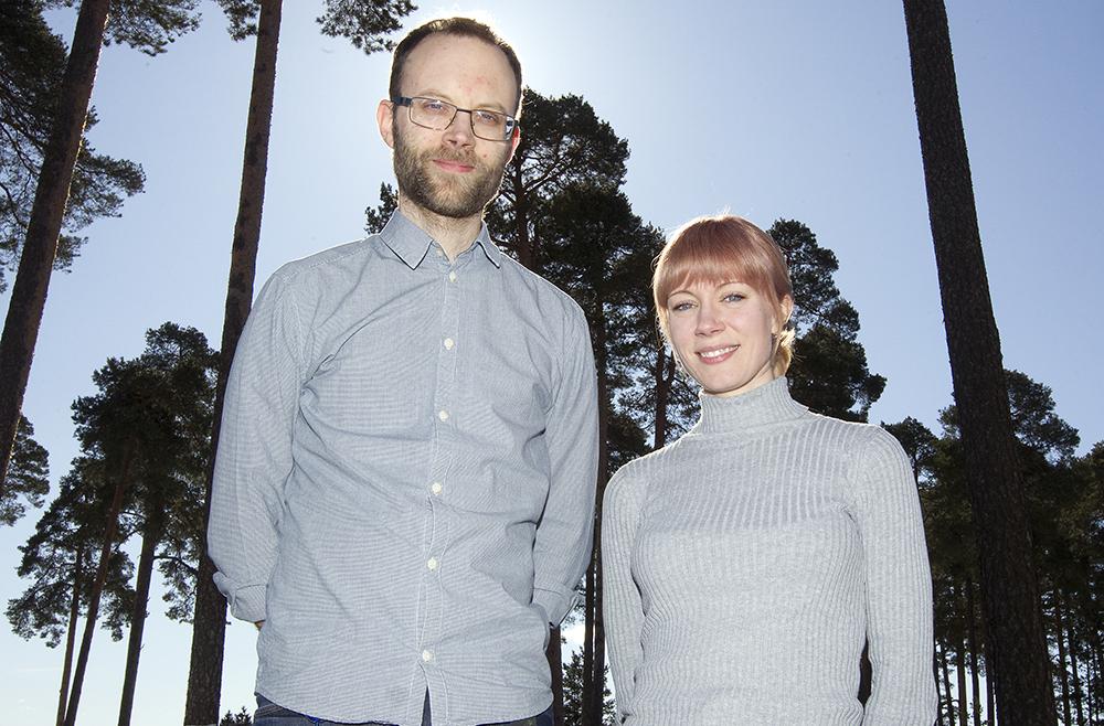Thomas Drost och Ulrika Mjöhagen, psykologer på vuxenpsykiatrin i Gävle. Foto: Pernilla Wahlman