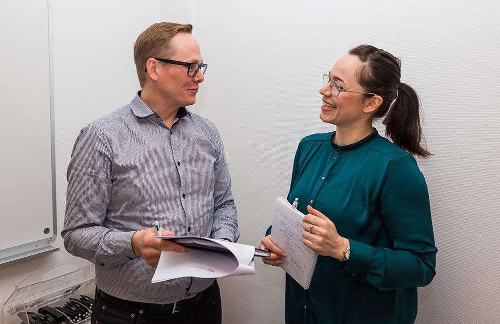 Patrik Fridlund, leg. psykolog i primärvården och Nina Stühmeyer, studierektor för PTP-programmet. Foto: Johan Klinthammar