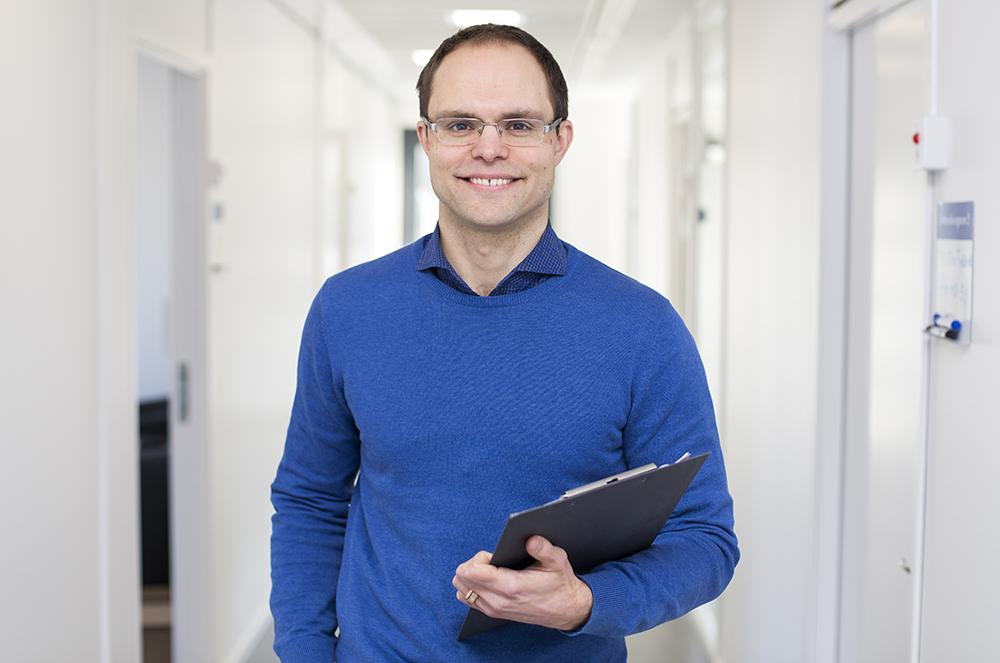 Nils Berginström, psykolog på Neurorehab NUS i Umeå. Foto: EdelPhoto