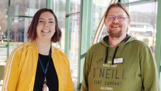 Louise Falk och Daniel Ryding, skolpsykologer i Jönköpings kommun. Foto: Tommy Hvitfeldt