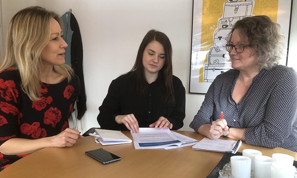 Helen Brännström, Gabriella Öström och Johanna Brännström, elevhälsan, Skellefteå kommun.