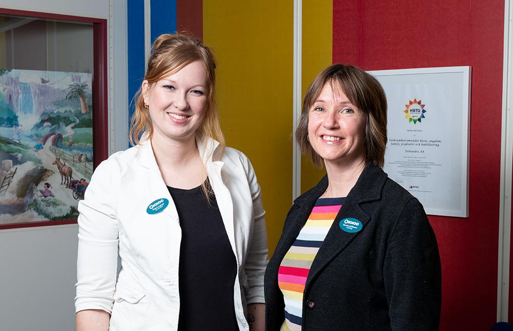 Frida Langvad, enhetschef och Susanne Eriksson, specialistpsykolog på BUP i Norrtälje. Foto: Conny Holm