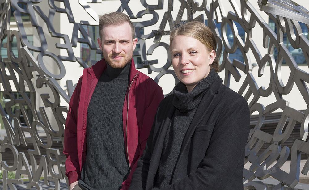 Theo Toresson och Matilda Månhav, skolpsykologer i Borås. Foto: Ulf Ekström