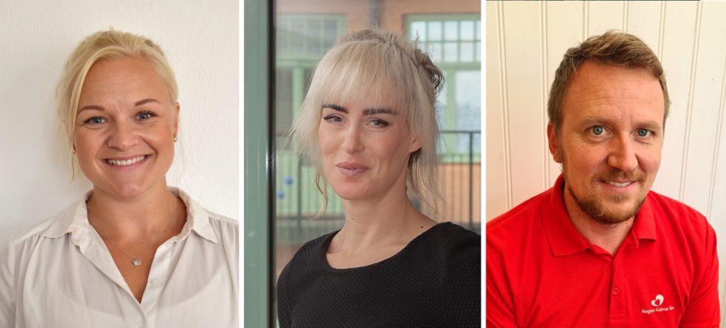 Matilda Holmström, Ellen Lindén (Foto: Fototjänster i Kalmar) och John Bengtsson.