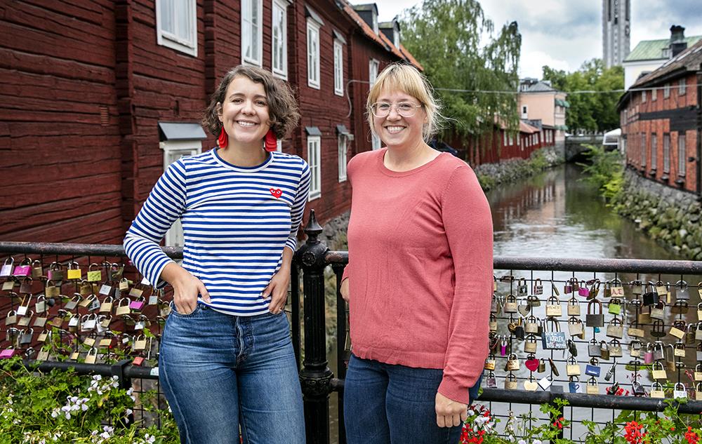 Rebecca Jungermann, skolpsykolog och psykologiskt ledningsansvarig och Melanie Hallstadius, STP-psykolog i Västerås. Foto: Per Groth